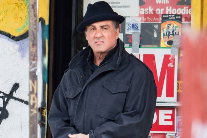 "Sylvester Stallone films scenes of the new Rocky movie ""Creed"" in Philadelphia, PA"