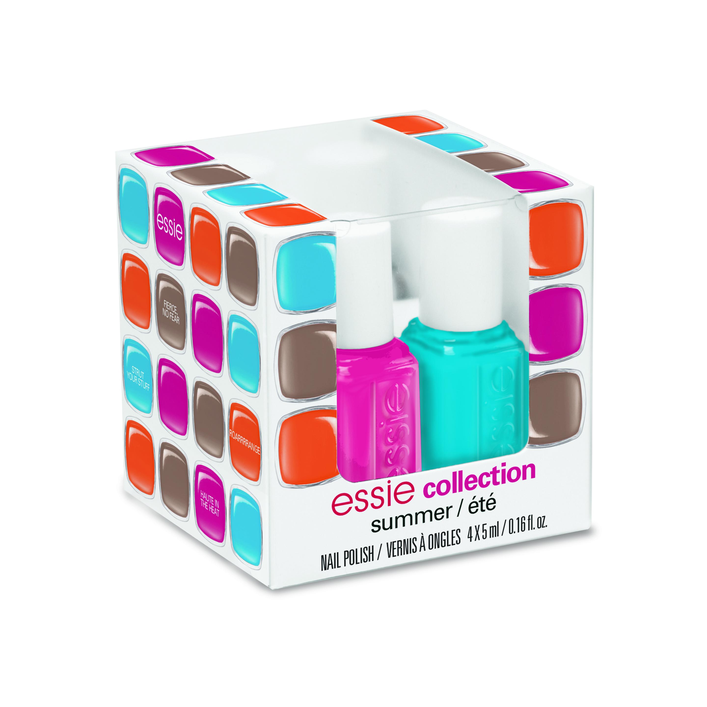 A coleção 'Mini Cube', da Essie, possui quatro cores que são coordenadas e vendidas juntas. Preço sugerido: R$ 59