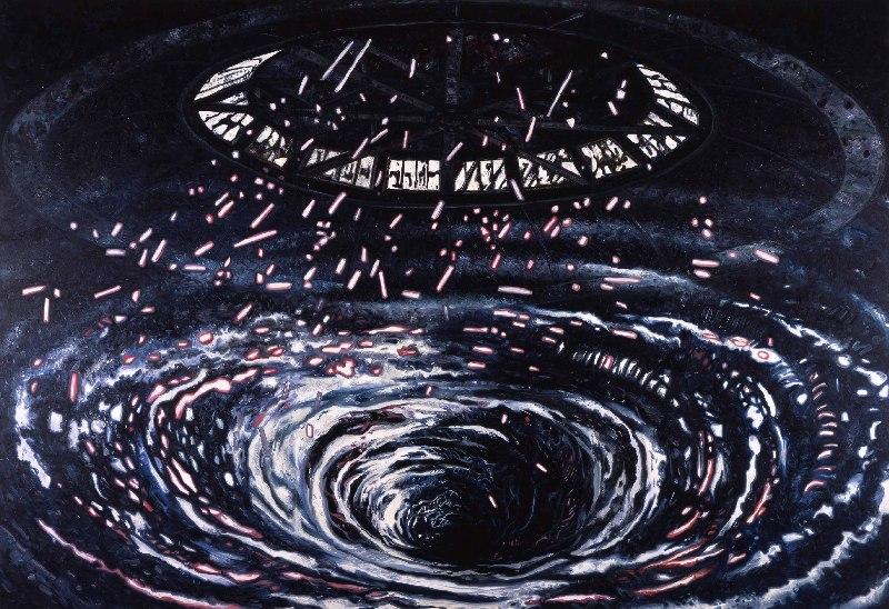 Swirl (Redemoinho/2012): representação do Superdome, um estádio que abrigou as vítimas do furacão Katrina, em 2005