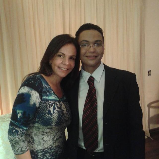 Com a cantora Sula Miranda, após um evento evangélico (Foto: Reprodução Facebook)