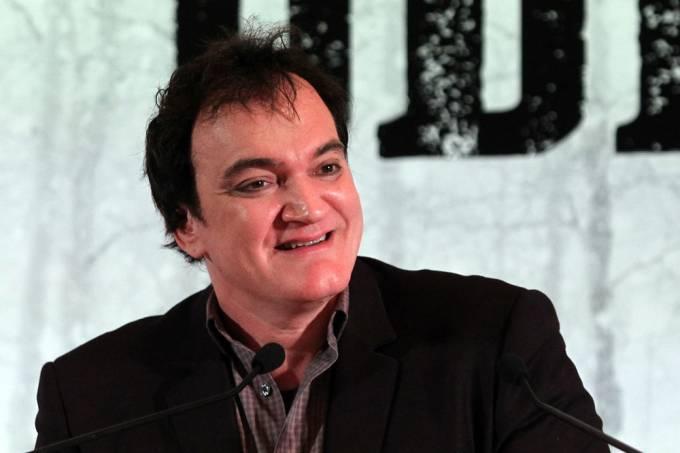 SCA SÃO PAULO 23/11/2015 – CADERNO 2 – TARANTINO/COLETIVA – Entrevista coletiva com o diretor de cinema Quentin Tarantino e o ator Tim Roth como divulgação do filme Os Oito Odiados, com lançamento previsto para janeiro de 2016.FOTO SERGIO CASTRO/ESTAD