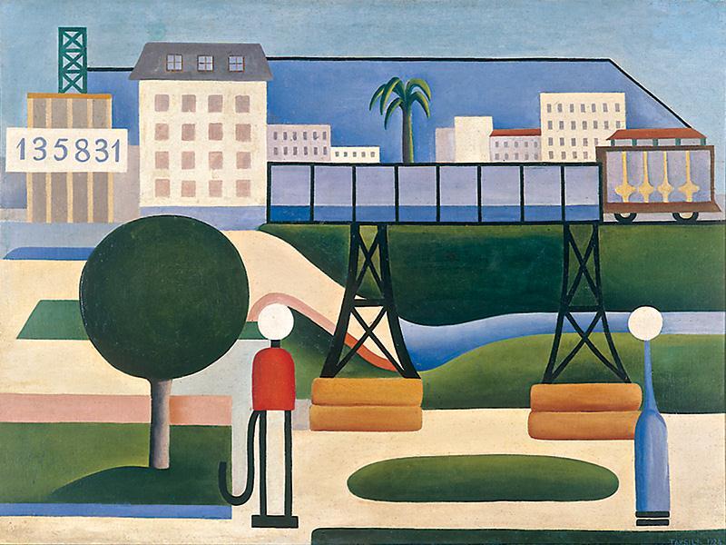 São Paulo (1924), de Tarsila do Amaral: a tela pertence à fase mais importante da artista