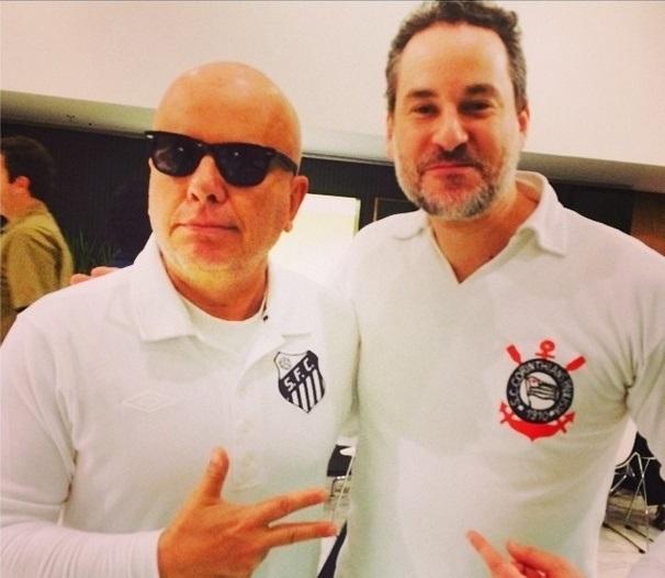Marcelo Tas e Dan Stulbach: o humorista tem cuidado de projetos editoriais e de seu novo programa da Band, e o ator está fechando contrato para apresentar o CQC (Foto: Reprodução Instagram)
