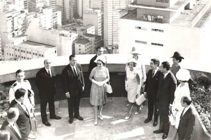 Vista de Elizabeth II ao Terraço Itália: a soberana da Inglaterra se encantou com o visual em 1968 (Foto: acervo Terraço Itália)
