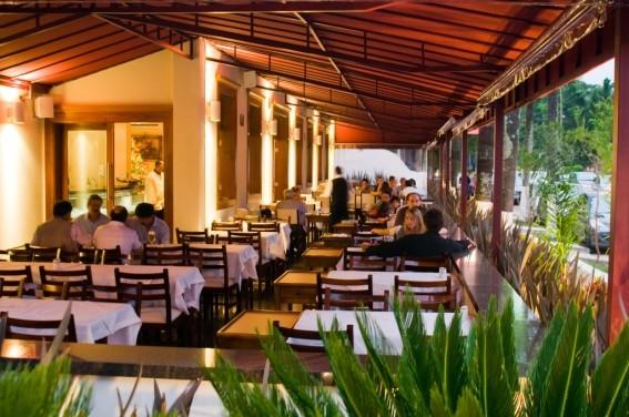 Terraço do restaurante Senzala
