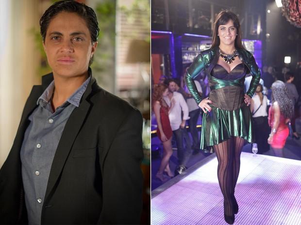 Na novela Salve Jorge, o ator viveu a policial Joyce e se disfarçou de Lohana em uma missão (Foto: Salve Jorge/TV Globo)