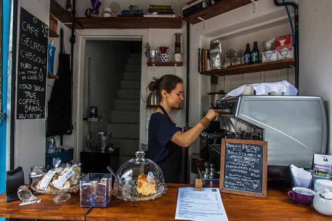 Pequena cafeteria em Pinheiros (Foto: Mario Rodrigues)