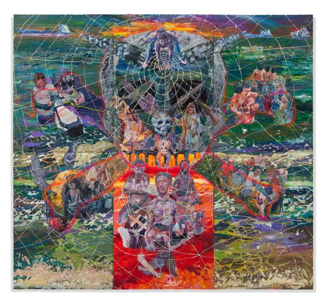 Esta tela de Thiago Martins de Melo está entre os 250 trabalhos exibidos na 31ª Bienal de São Paulo