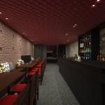 O bar-café da entrada (Arquitetura: Fernando Barros)