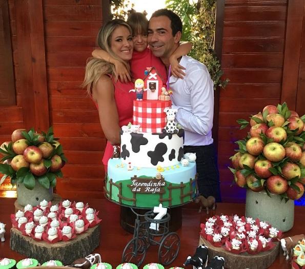 Ticiane e César Tralli: comemoração de 7 anos de Rafaella (Foto: Reprodução/Instagram)