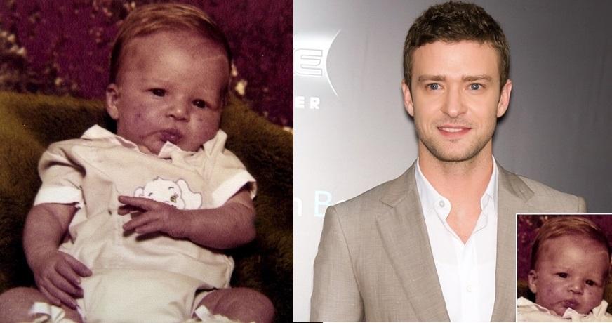 Pela foto de bebê, Justin Timberlake melhorou muito