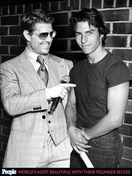 Tom Cruise em 1983 e em 2013