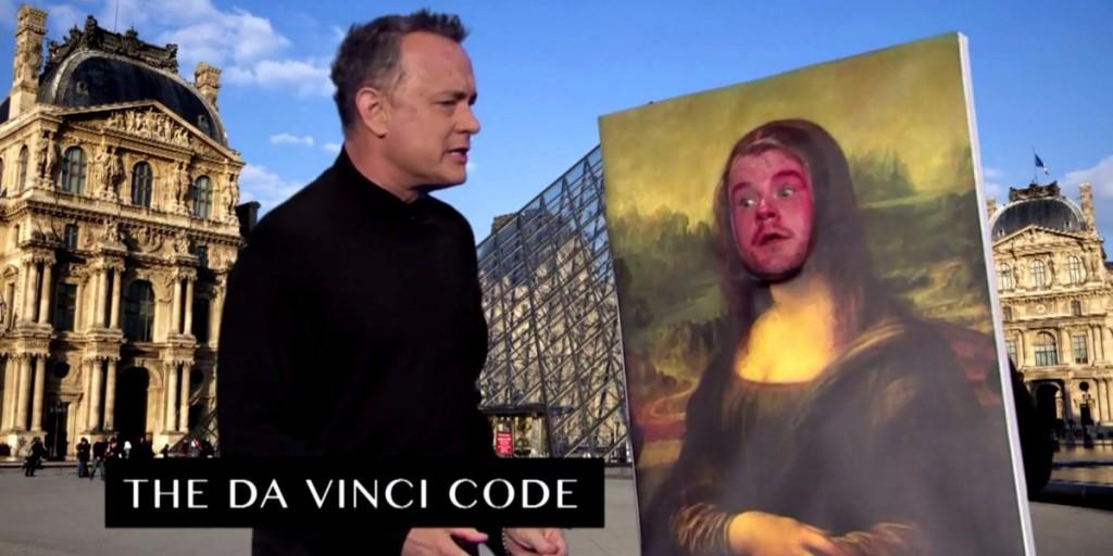 Tom Hanks e James Corden recriam O Código Da Vinci