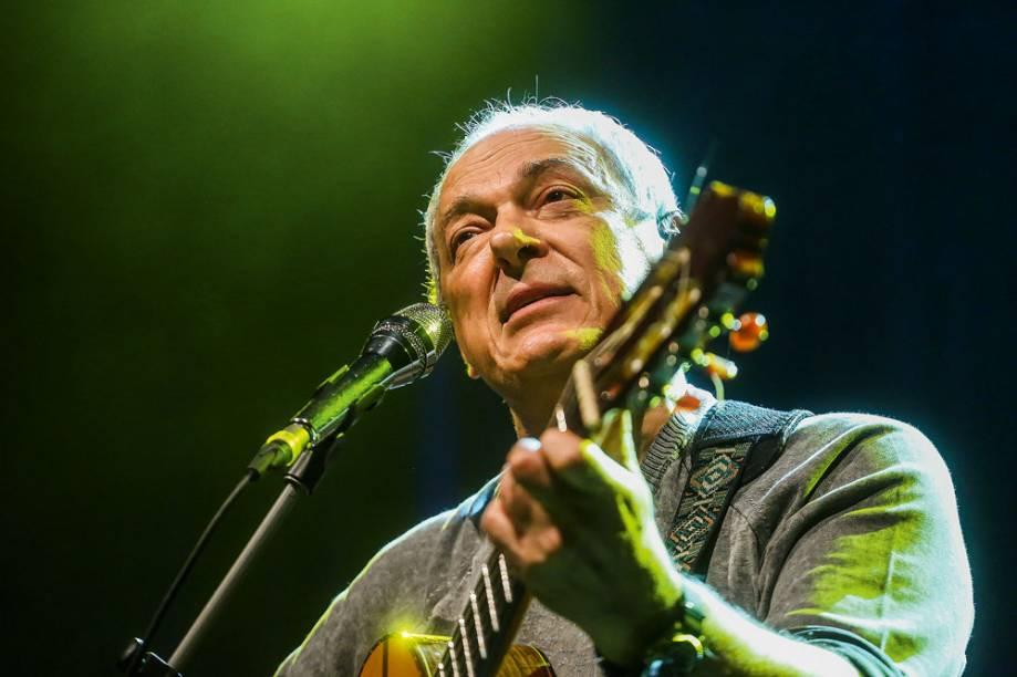 São Paulo, SP. 11/04/2017. O cantor Toquinho se apresenta no Teatro Porto Seguro. (Foto: Edson Lopes Jr.)