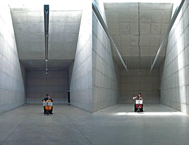 Concerto para Edifício Transposto, vídeo de Patrícia Osses: um instrumentista em cada espaço