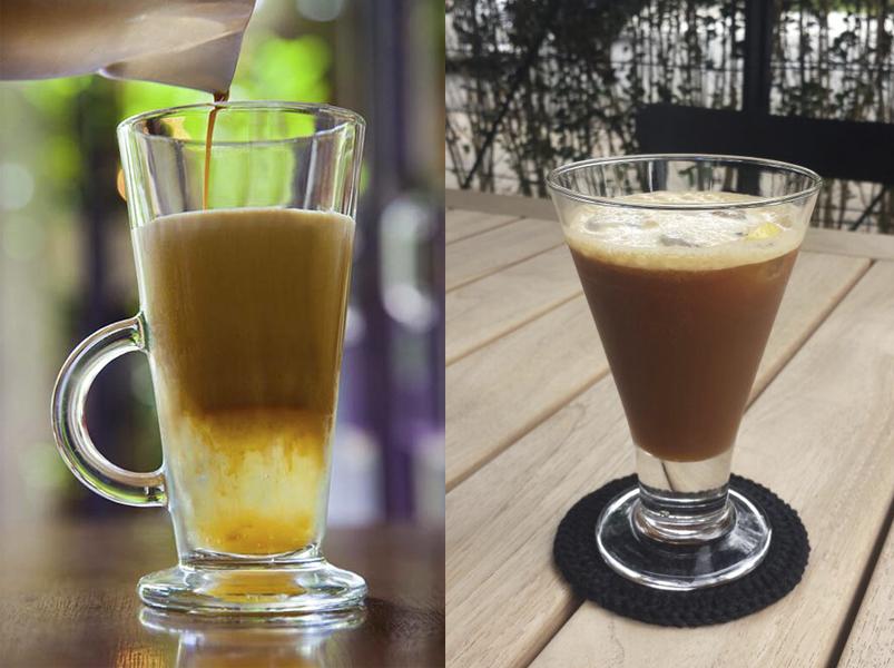 Cafés gelados do Coffee Lab e da Cacao Sampaka (Fotos: Antonio Rodrigues e Divulgação)
