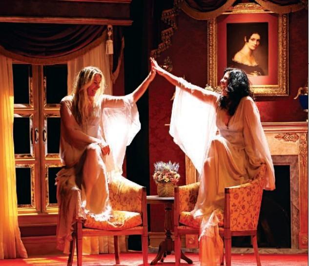 Adriane Galisteu e Lúcia Veríssimo em Uma Mulher do Outro Mundo