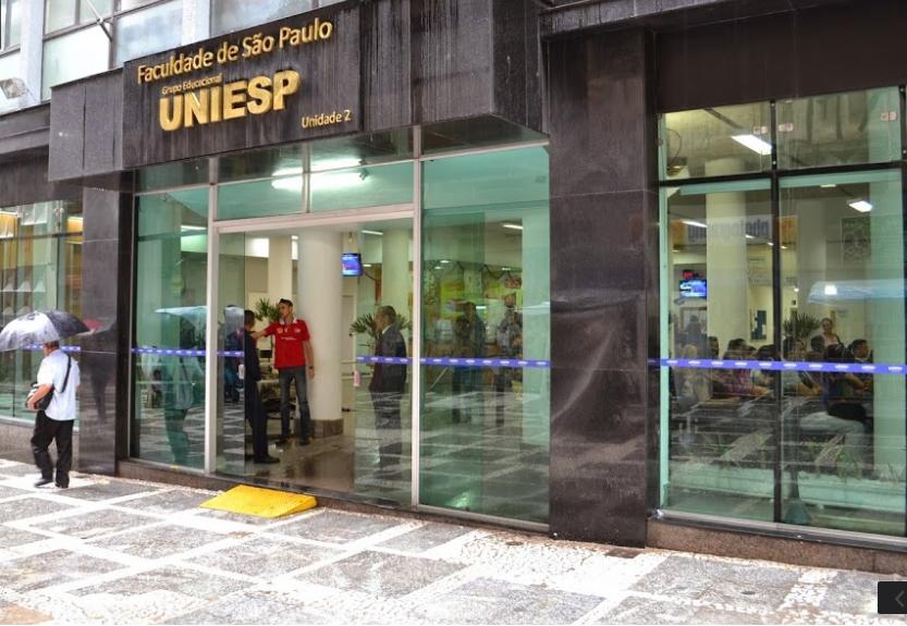 Fachada da UNIESP, no centro de SP (foto: Reprodução/Google Maps)
