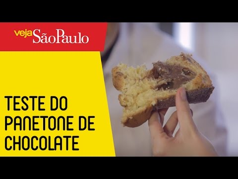 Prova do panetone de chocolate