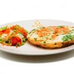 Omelete de palmito: alternativa mais leve