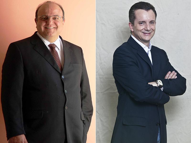 Vaccarezza, enrolado na Lava Jato, e Russomanno, que disputa a prefeitura: parceria eleitoral (Foto:  Adriano Machado e Mario Rodrigues)