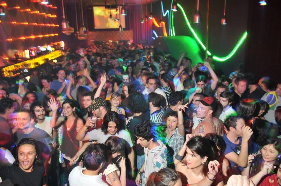 Pista de dança do Vegas Club, na Rua Augusta