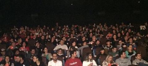 Mais de 250 convidados marcaram presença na sala XD da Cinemark