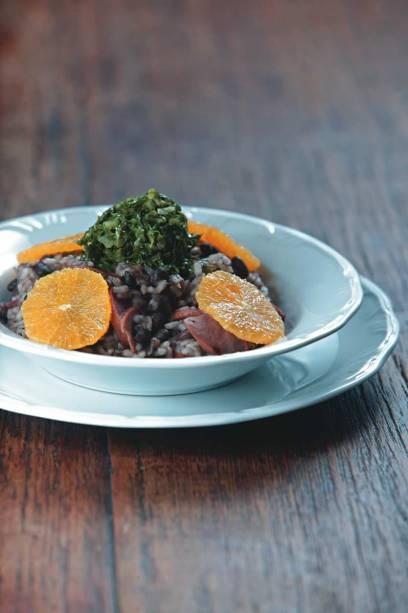 No variado Viandier Casa de Gastronomia: o risoto de feijoada revela-se apetitoso