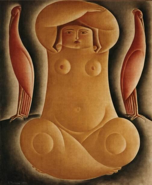 Figura Sentada (1924), de Vicente do Rego Monteiro