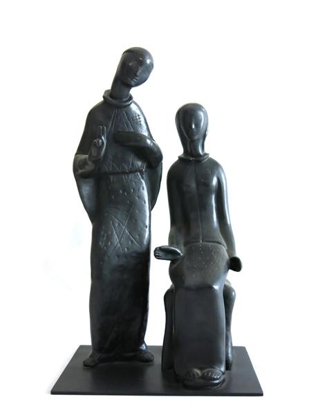 Anunciação é uma peça de bronze feita pelo artista nos anos 40