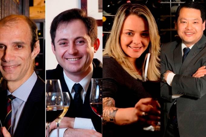 Feras no mundo dos vinhos: Manoel Beato, Tiago Locatelli, Gabriela Bigarelli e Ernesto Arahata