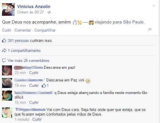 Vinicius Anzolin tragédia Ibitinga
