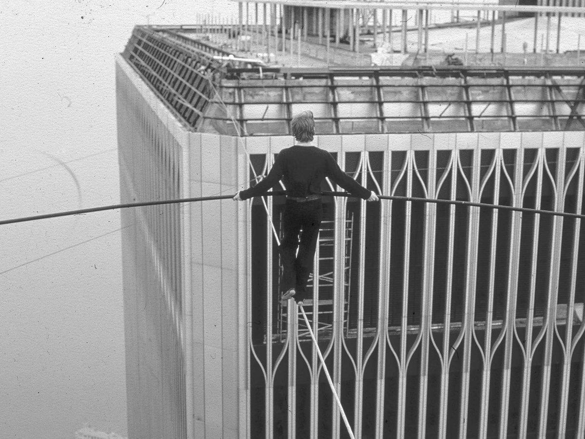 Vista de uma das torres do WTC