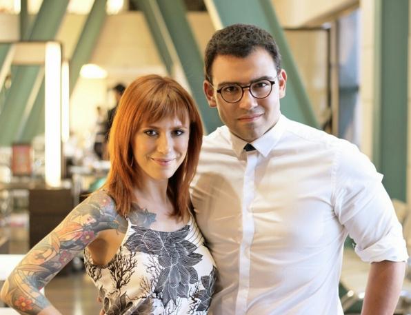 O cabeleireiro Walter Leal ao lado da maquiadora Juliana Rakoza (Foto: Reprodução/Instagram)