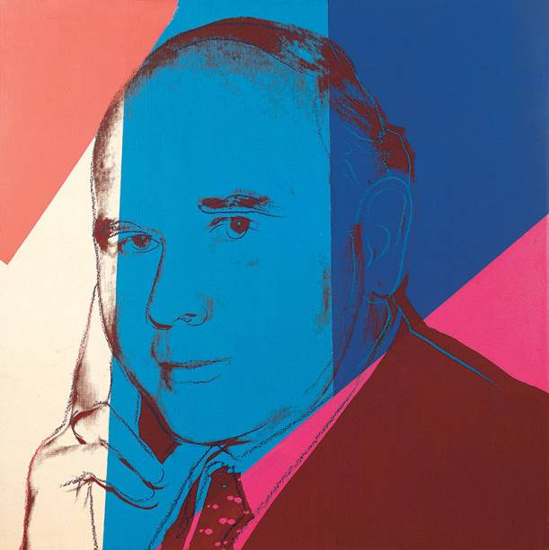 Retrato de Peter Ludwig, de Andy Warhol: as peças ocupam os cinco andares da instituição