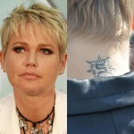 E a rainha dos baixinhos (e das péssimas tatuagens) é a Xuxa! Porque a gente nunca viu tanta tatuagem feia em uma única pessoa
