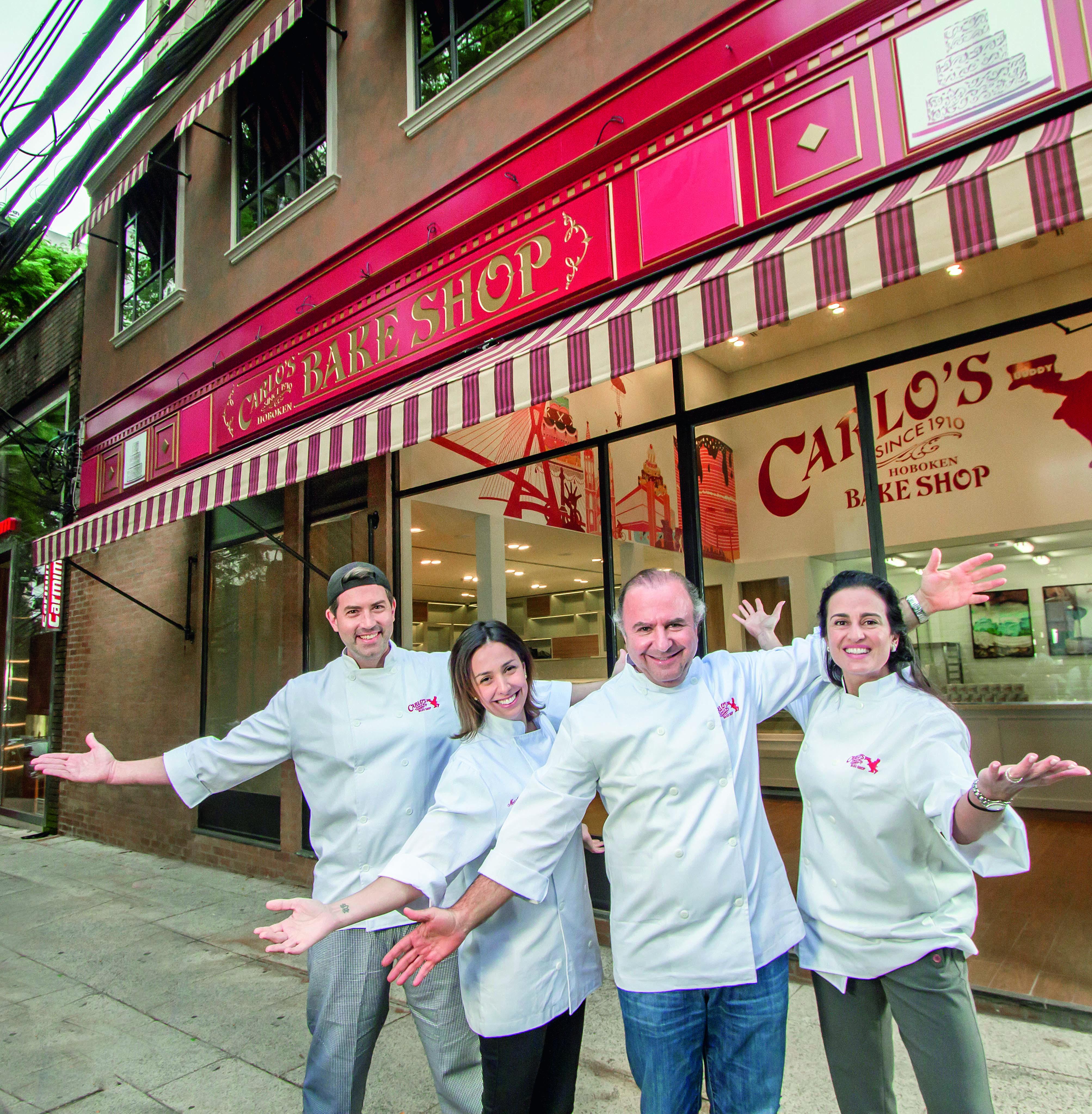 O chef Rick Zavala com os sócios Marília Lefosse, Marcos e Milah Kherlakian: investimento inicial de 12 milhões de reais no negócio de Buddy Valastro (Foto: Rogerio Albuquerque)