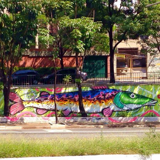 Mural de Gustavo Cortelazzi, na Avenida 23 de Maio, apagado no último domingo (22) (Reprodução/Facebook)