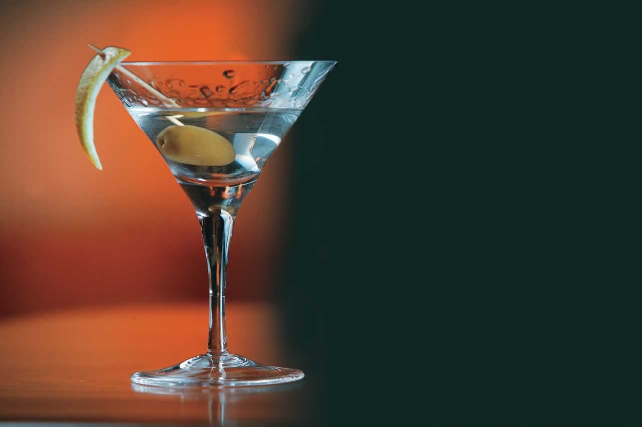 Taça de dry martini