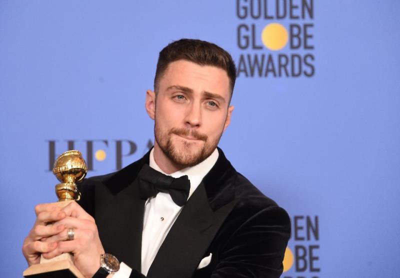 Aaron Taylor-Johnson foi o primeiro a receber o Globo de Ouro - de melhor ator coadjuvante por Animais Noturnos