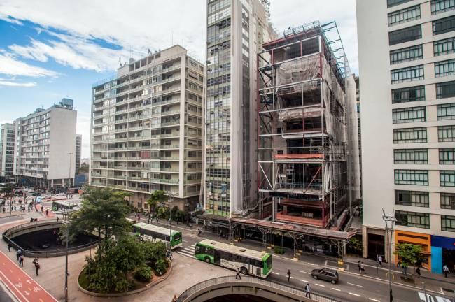 Construção do novo predio do Instituto Moreira Salles (Foto: Bruno Fernandes)