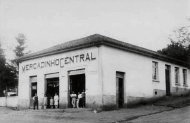 O Mercadinho Central em foto de 1958 (Foto: Divulgação)