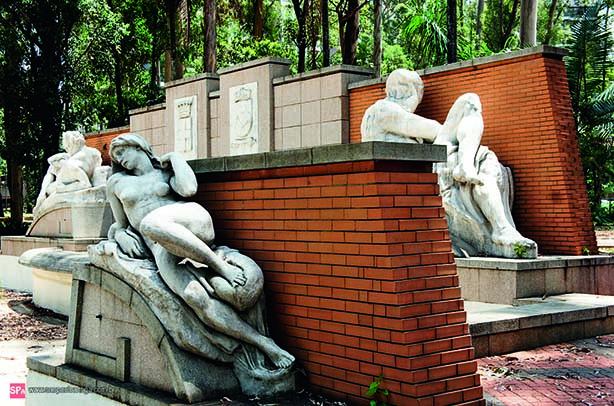 Esculturas na Praça Cidade de Milão, em Moema (Foto: Divulgação)