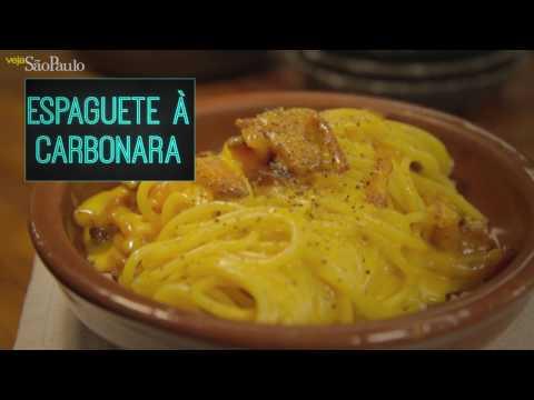 Receita: espaguete à carbonara