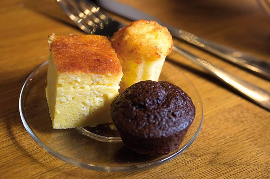 Mocotó Café: trio de bolinhos caseiros