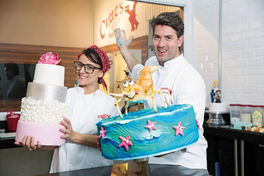 Bia Bezerra e Rick Zavala, da Carlo's Bakery: aulas com pasta americana na sexta (10/3), às 19h e no domingo (12/3), às 13h (Foto: Leo Martins)