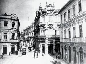 O imóvel no início do século passado: a Casa Bevilacqua, de instrumentos musicais, foi uma das inquilinas (Foto: Acervo Casa Bevilacqua)