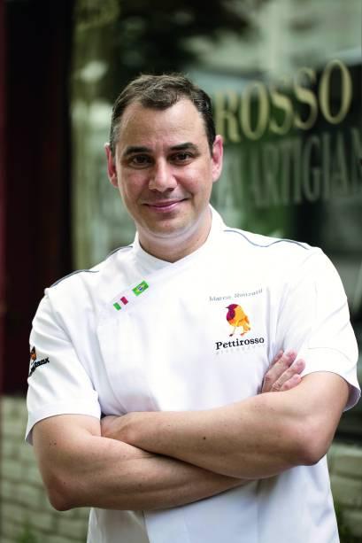 Marco Renzetti, do Osteria del Petirosso: em aula no domingo (12/3), às 19h, ensina a preparar linguine negro com camarão e tomate confit