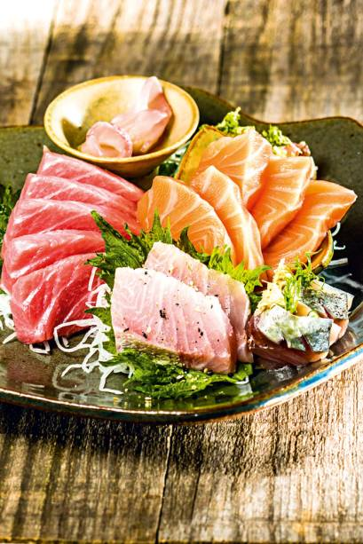 Sashimi: peixes variados