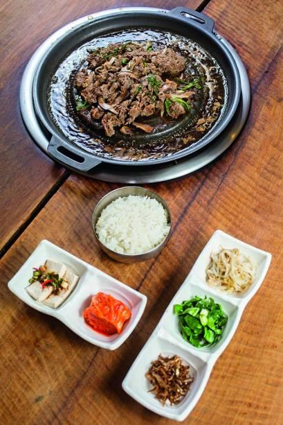 A carne do Portal da Coreia: com várias guarnições